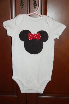 Minnie Mouse Onesie by TotallyTerrificTUTUS on Etsy, $7.00