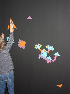 How to make a magnetic activity wall Sensory Room Magnetic Paint, Interactive Walls, Kids Artwork, Happy Mom, Fun Activities For Kids, Kid Spaces, Kids Playing, Art For Kids, Kids Room