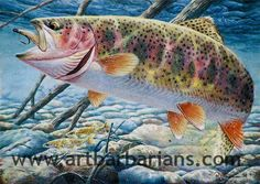 TROUT ART | Wildlife art prints plus original paintings with a wide selection from ...