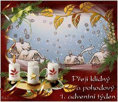 vanoce_adventni_prani Christmas And New Year, Christmas Cards, Merry Christmas, Santa, Snoopy, Animation, Table Decorations, Humor, Christmas E Cards