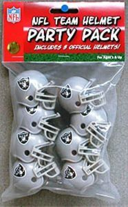 Amazon.com: Oakland Raiders RIDDELL NFL TEAM HELMET PARTY PACK: Sports & Outdoors