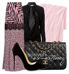 """""""Hijab Outfit #555"""" by hashtaghijab ❤ liked on Polyvore featuring moda, Uniqlo, Givenchy, Moschino Cheap & Chic, Chanel e hijab"""