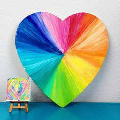 Fun and easy heart art projects that are great for homemade art gifts or Valentine's Day art. These heart art projects are created with acrylic paint. Preschool Art Projects, Art Projects For Adults, Art Activities For Kids, Kids Crafts, Senior Activities, Dementia Activities, Activity Ideas, Therapy Activities, Preschool Ideas