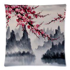 "beautiful Cherry blossom tree,Japan Cherry blossom art,Sakura Twin Side Zippered Cushion Case,Pillowcase,Cushion cover 18""x18"" Cherry blossom tree Cushion Case http://www.amazon.com/dp/B00P653092/ref=cm_sw_r_pi_dp_qhBpvb0RF36S9"
