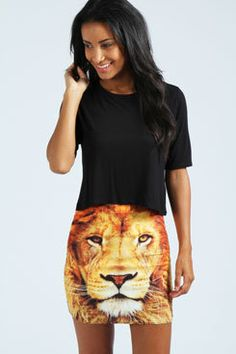 #boohoo                   #Skirt                    #Saskia #Lion #Mini #Skirt                          Saskia Lion Mini Skirt                              http://www.seapai.com/product.aspx?PID=428569