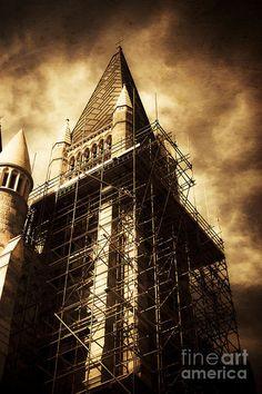 Brisbane Print featuring the photograph Vintage Church Column Construction by Ryan Jorgensen