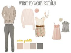 What to Wear for Spring Family Pictures / Erin D. Photography - erin d. Family Portrait Outfits, Family Outfits, Family Portraits, Spring Family Pictures, Family Pics, Family Photos What To Wear, We Wear, How To Wear, Blush And Grey