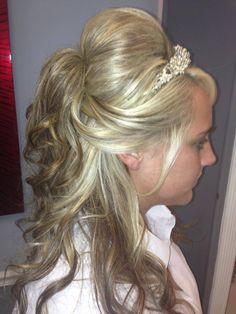 BEAUTIFUL WEDDING HAIR #hairbycheryl@MirrorMirrorHairStudio@Spa. @Kaitlyn Watson George