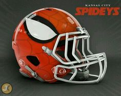 Marvel Comics NFL Football Helmet: Kansas City Spideys Football Awards, Football Icon, Football Love, Football Humor, Football Art, College Football, Nfl Football Helmets, Football Trophies, Football Shirts
