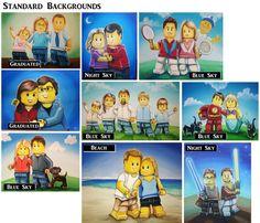 16 x 20 You as a Lego Guy Custom Lego Portrait by TheWhimsicalFrog