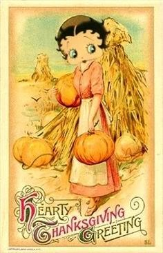 Betty Boop Thanksgiving Greeting