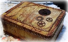 Steam Punk Altered Tin Box Tin Box Steampunk by AlteredStateofTin, $45.00