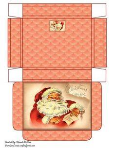 Christmas Gifts Box Ideas - Christmas Cheer Gift Box on Craftsuprint designed by Rhonda Brittain - A gift bo. Christmas Gift Baskets, Christmas Gift Box, Christmas Paper, Christmas Crafts, Theme Baskets, Corporate Gift Baskets, Staff Gifts, Gift Baskets For Men, Printable Box