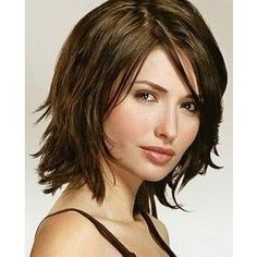 Medium Layered Hairstyles With Bangs Shoulder Length Layered Hairstyle