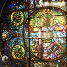 Original church stained glass windows were preserved, as was the exterior brownstone construction! • Window 1