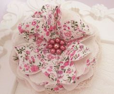 Shabby Chic Mori Girl Country Style Cotton Flower, Wedding Sash Accessory Home Decor Brooch Pin Crafts Photo Shoots Baby Shower – SMCF0085