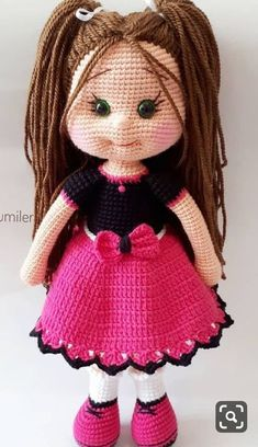 Doll Amigurumi Free Pattern, Crochet Dolls Free Patterns, Crochet Square Patterns, Crochet Doll Pattern, Baby Knitting Patterns, Amigurumi Doll, Crochet Designs, Crochet Doll Clothes, Knitted Dolls