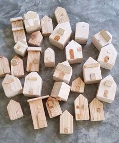 My dad d diy wood works for tiny little houses diywoodwork tiny little houses tiny house driftwood crafts wooden crafts miniature houses wood toys wood blocks bird houses wooden houses diy wood kids play cash register free plans Wood Block Crafts, Wooden Crafts, Diy Wood Projects, Vinyl Projects, Tiny Little Houses, Tiny House, Wood Scraps, Driftwood Crafts, Wood Slices