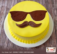 Boost your father's happy mood with tempting cakes. Book your order today and . Boost your father's happy mood with tempting cakes. Book your order today and get cake on Father's Day June). For Phone Orders: 09974098980 code: Birthday Cakes For Men, Birthday Cake For Father, Happy Fathers Day Cake, Fathers Birthday Cake, Cake Designs For Boy, Cake Design For Men, Birthday Cake Decorating, Cake Decorating Tips, Emoji Cake