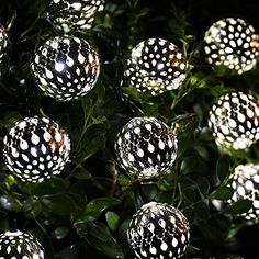 Haoran Globe String Lights 10 LEDs Waterproof Solar String Lights 115 ft Copper Wire Outdoor Christmas Lights Suitable for Christmas Indoor Decoration Wedding Outdoor PartyWhite ** This is an Amazon Affiliate link. Check out this great product. Indoor Christmas Decorations, Outdoor Christmas, Christmas Lights, Christmas Tree, Globe String Lights, Indoor String Lights, Lawn And Garden, Seasonal Decor, Indoor Outdoor