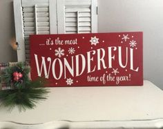 Christmas Signs Believe Christmas Sign Wood by PaperandPineCo