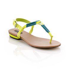 Hejsa Sandal Yellow Teal