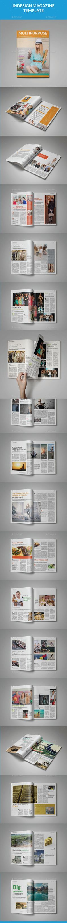 A5 Universal Magazine Template InDesign INDD. Download here: http://graphicriver.net/item/a5-universal-magazine-template/15239430?ref=ksioks