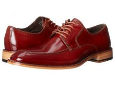 Stacy Adams Bramwell (Cognac) Men's Lace Up Moc Toe Shoes
