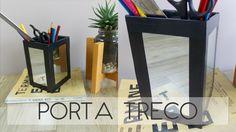 Decoração (Closet/Escritório) -  Porta trecos de espelho - DIY