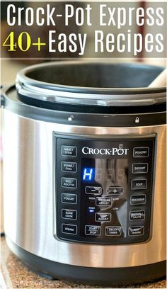 Here is a huge list of easy Crock Pot Express recipes for you to try in your new pressure cooker this week! From dinners to side dishes and desserts too you will surely find a favorite dish here. Simple and delicious meals your family will love to eat and make your life a lot easier in the kitchen.