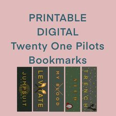 Twenty One Pilots inspired bookmarks, print at home