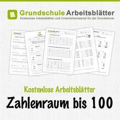 Kostenlose Arbeitsblätter und Unterrichtsmaterial zum Thema Zahlenraum bis 100 im Mathe-Unterricht in der Grundschule.