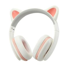 Censi Music Headset Headphone Creative Cat Ear Stereo Over-ear Game Gaming Bass Headset Noise Canceling Headband Earphone with MIC Rechargerable Port for Bluetooth Device (White, Blutooth) Wireless Cat Ear Headphones, White Headphones, Noise Cancelling Headphones, Over Ear Headphones, Music Headphones, Diy Coque, Tech Accessories, Cell Phone Accessories, Accessoires Iphone