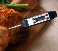 Thermometers - Kitchen Knight SD2810 - Digital Food Thermometer with High Resolution LCD Display. Premium Fast Read Professional Chef Meat Thermometer. Safe, Waterproof, Top Quality with Accurate Quick Read Probe, Best for Subtle Recipes, Cooking, Grilling, Outdoor Barbecues. Ideal for your Kitchen. Fully Guaranteed. Sale Price $18.95. Limited Offer - Comes with FIVE BEAUTIFUL RECIPE BOOKS - FREE!