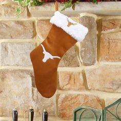 Texas Longhorns Stocking! Check out all of the Longhorns Holiday decor here: http://pin.fanatics.com/COLLEGE_Texas_Longhorns_Accessories_Holiday_Items/source/pin-texas-holiday-decor-sclmp