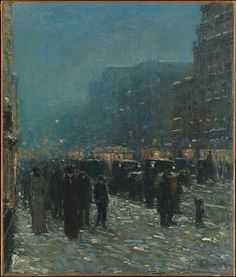 Childe Hassam (American, 1859–1935). Broadway and 42nd Street, 1902. The Metropolitan Museum of Art, New York.