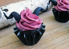 マレフィセント風カップケーキ