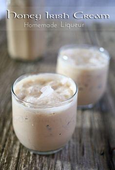 Honey Irish Cream ~ Homemade Liqueur