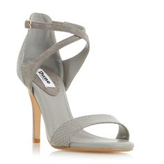 DUNE LADIES MADELEINE - Strappy Cross Strap Heeled Sandal - grey | Dune Shoes Online