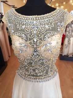 Modest Chiffon Cap Sleeves Formal Gowns Long  Crystals Beaded 2015 New Women Evening Dress Plus Size Vestido De Festa