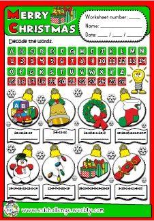 ESLCHALLENGE - ENGLISH TEACHING RESOURCES - CHRISTMAS FUN TIME PACK http://eslchallenge.weebly.com/packs.html