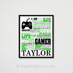 Arts And Crafts Stores Nyc Gaming Wall Art, Gaming Posters, Sand Crafts, Garage Art, I Sent You, Gamer Gifts, Typography Poster, Craft Activities, Gift For Lover