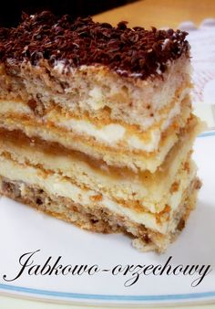 No Bake Desserts, Delicious Desserts, Dessert Recipes, Yummy Food, Polish Cake Recipe, Polish Recipes, Homemade Pastries, Homemade Cakes, Kitchen Boss