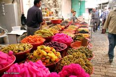 مخللات في اسواق مدينة الخليل