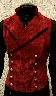 Shrine Gothic Vampire Cavalier Vest Jacket Victorian Velvet Goth Steampunk Count | eBay