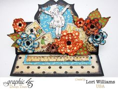 ABC Primer Graphic 45 sizzix easel card by Lori Williams #graphic45
