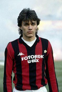Palo Maldini à ses débuts en 1985