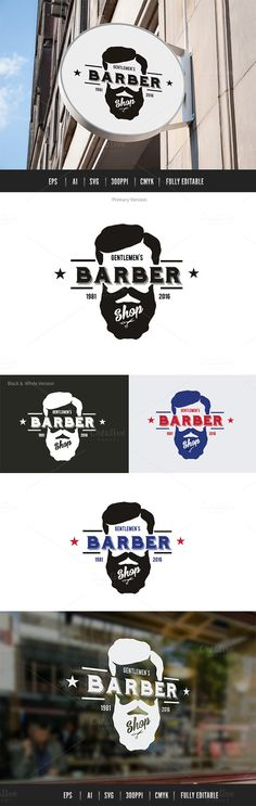 Barber Shop by Super Pig Shop on @creativemarket