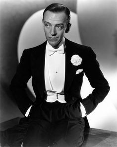 """Fred Astaire looking dapper in his white tie and tails, """"Top Hat"""" (1935)"""