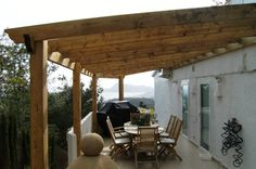 Pergola attached to house